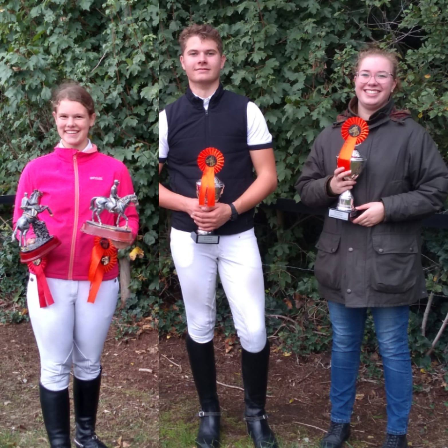 Anne, Jesse en Sanne clubkampioenen van 2020 bij RV en PC Zelhem